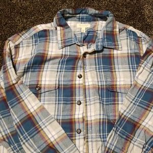 SONOMA Mens Long Sleeved Flannel shirt